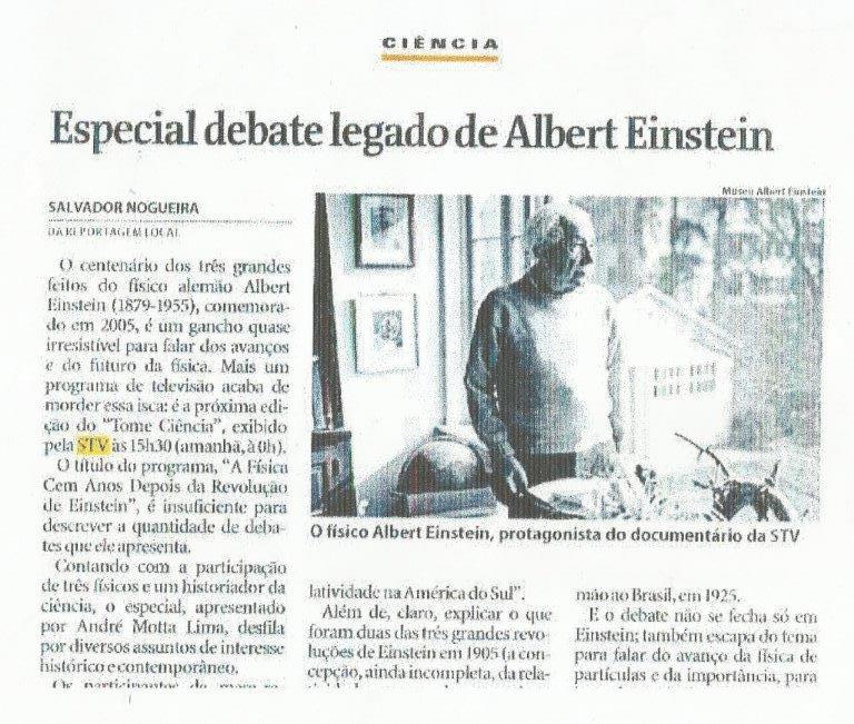 ciencia - especial legado cientista albert